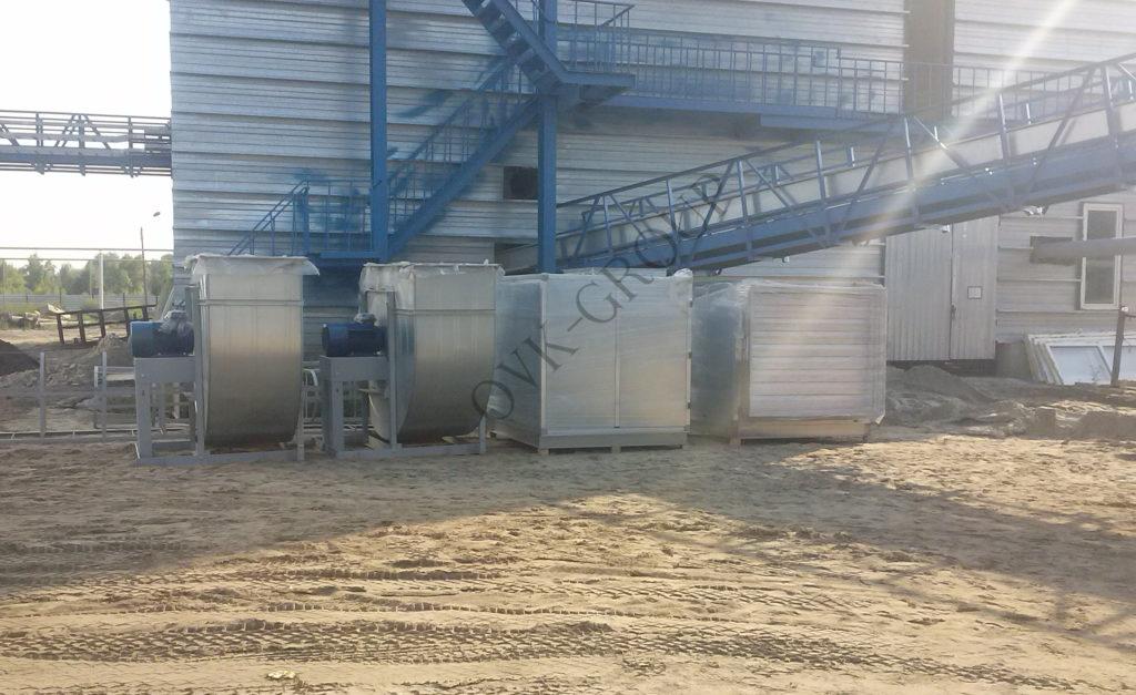 Монтаж вентиляционного оборудования завода