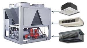 Проект систем кондиционированием с использованием чиллеров и фанкойлов
