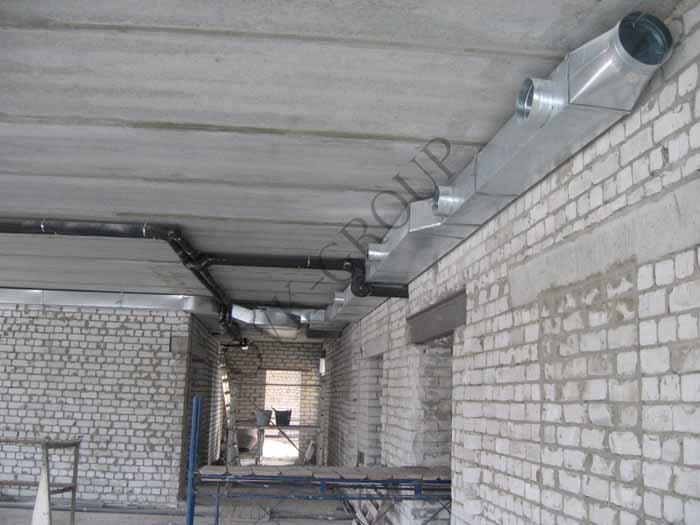 Монтаж систем вентиляции в промышленных и бытовых помещениях