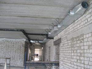 Монтаж приточной вентиляции в офисном центре