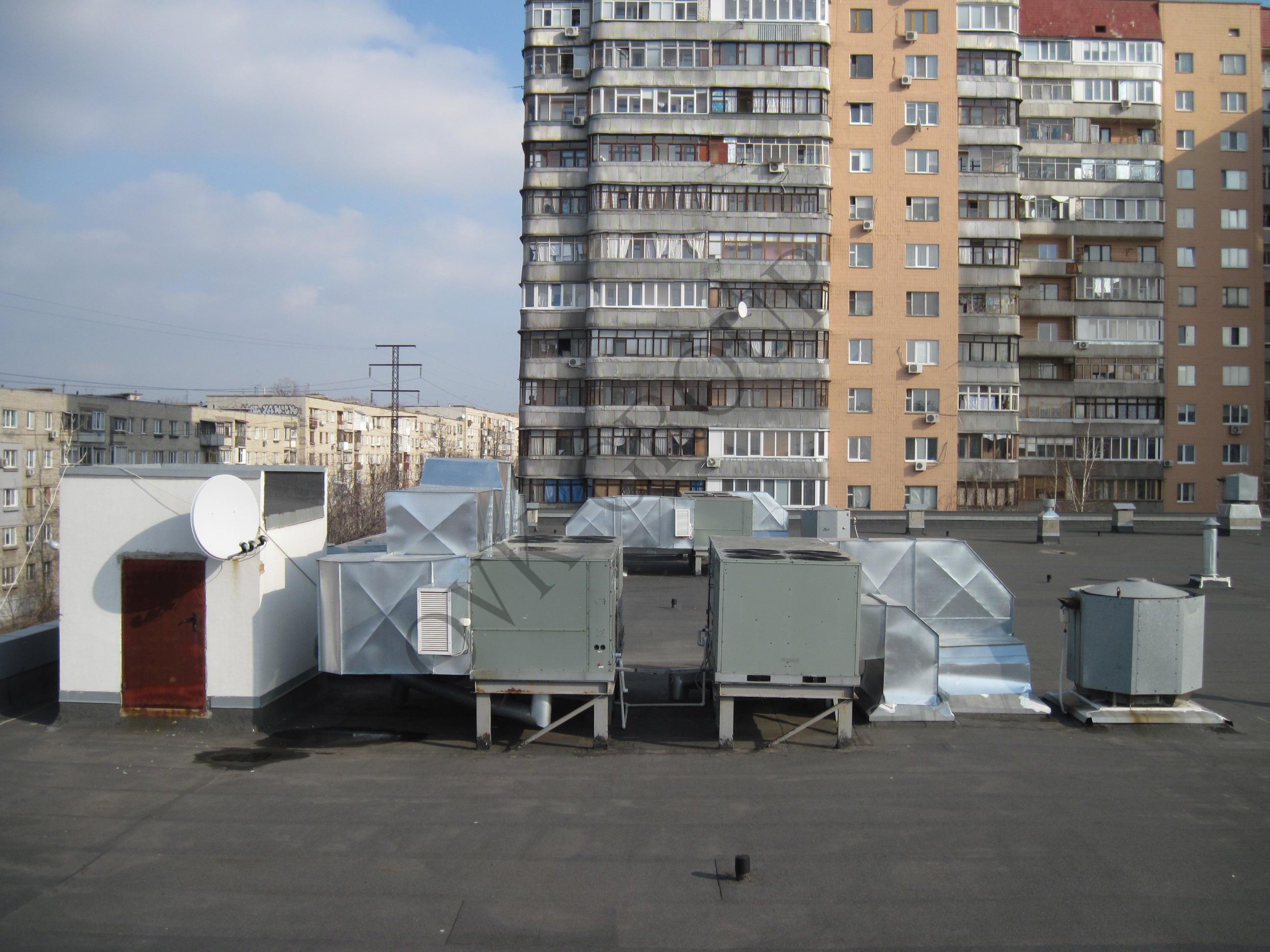 Проект воздушного отопления торгового центра на основе руфтопа