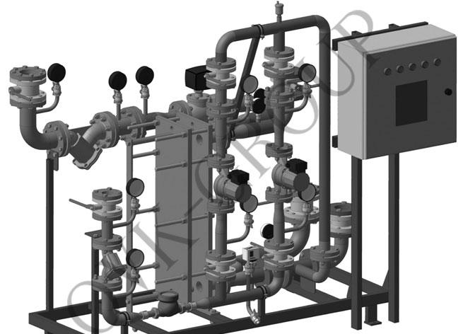 Проект обвязки теплообменного оборудования системы горячего водоснабжения