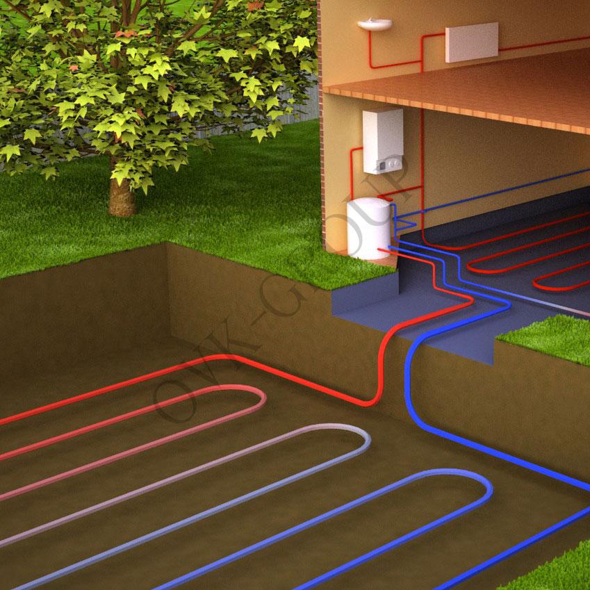 Проект геотермального теплового насоса для энергосбережения жилых домов