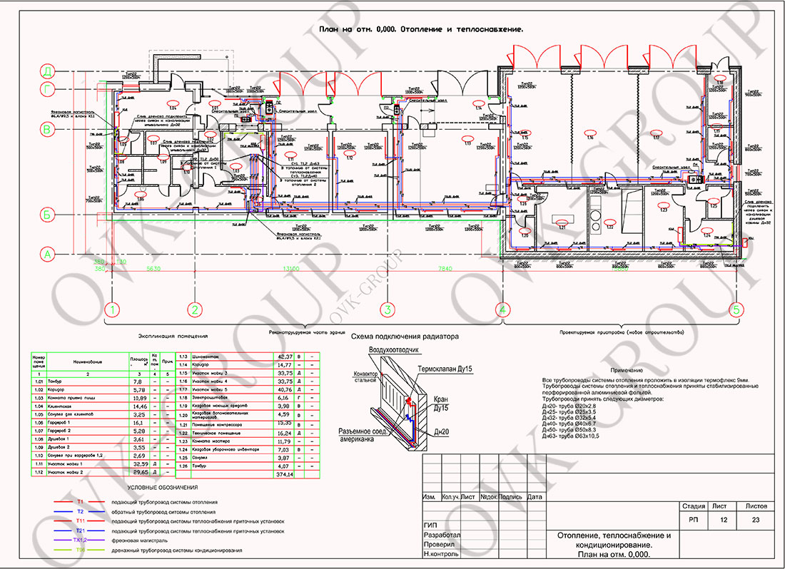 Проект системы отопления сто