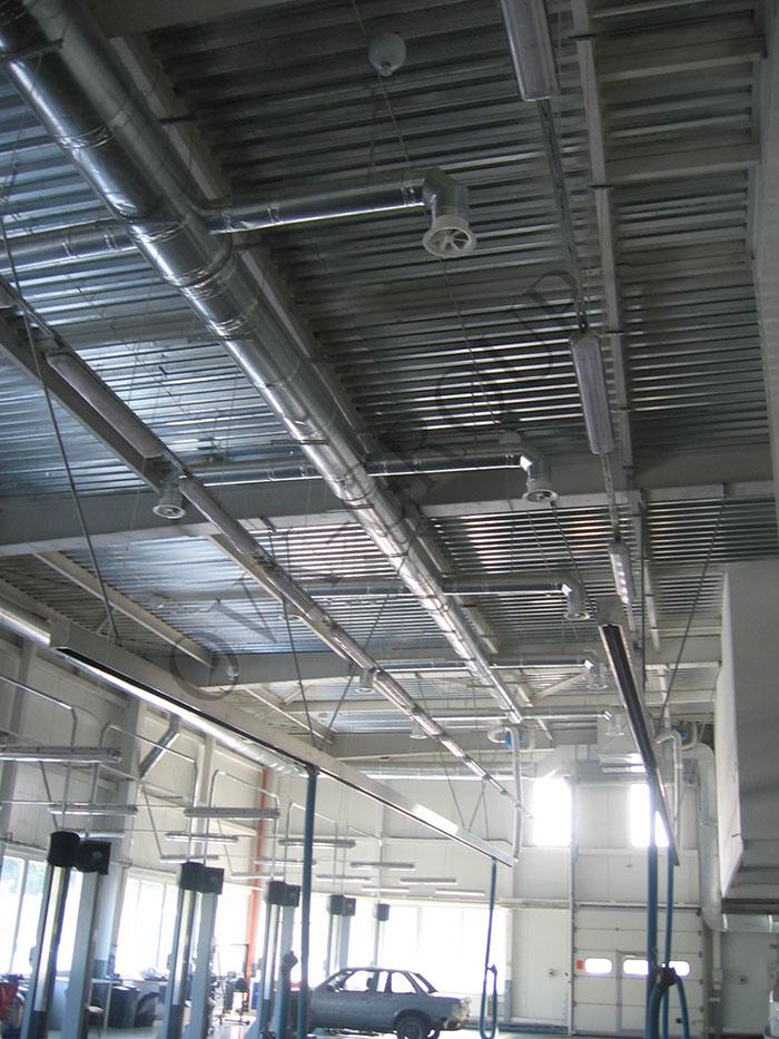 Проектирование и монтаж системы вентиляции в зоне СТО автосалона
