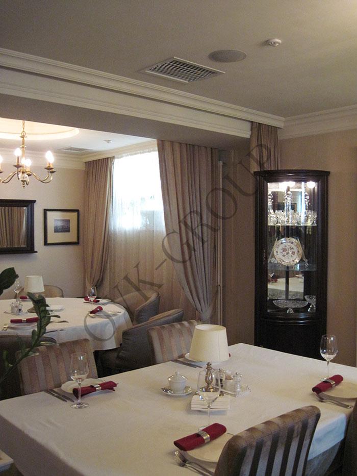 Проект системы вентиляции и кондиционирования зала ресторана