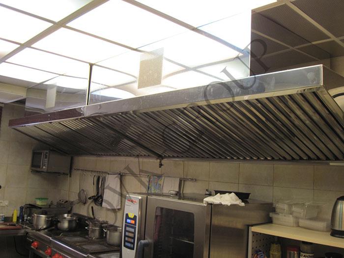 Проект системы вентиляции в горячем цехе кухни в офисном центре