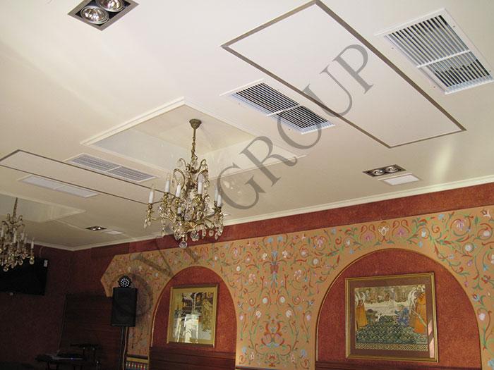 Проектирование и монтаж фанкойлов в зале ресторана