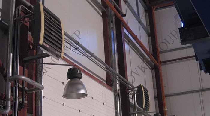 Проект и монтаж воздушного отопления в производственном цехе