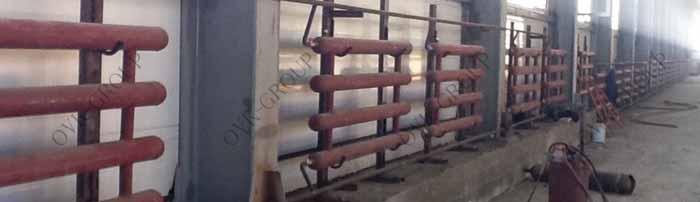 Монтаж радиаторного отопления и отопления регистрами из гладких труб в производственном цехе