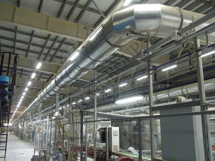 Проект и монтаж аварийной вентиляции в цеху