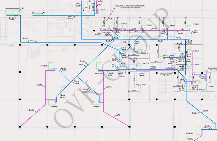 Проект системы кондиционирования на основе VRV и VRF систем