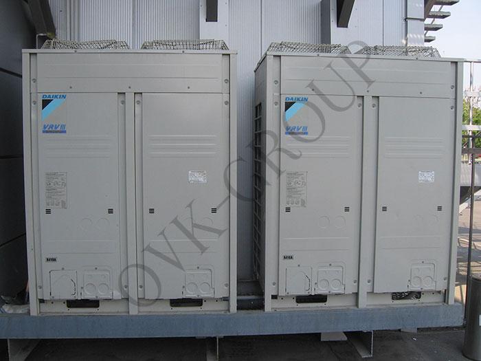 Установка наружных блоков VRV и VRF систем кондиционирования