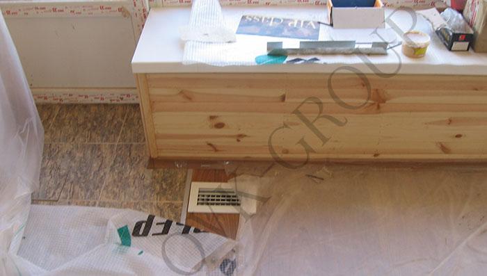 Проектирование и монтаж воздушного отопления в коттедже с внутрипольной разводкой воздуховодов