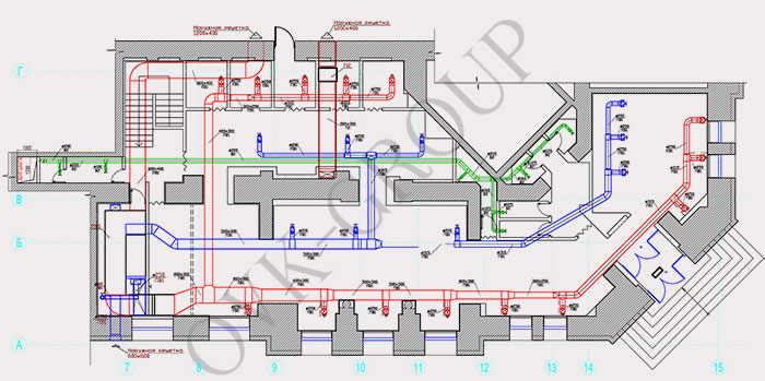 Проект системы вентиляции и кондиционирования ресторана в Харькове