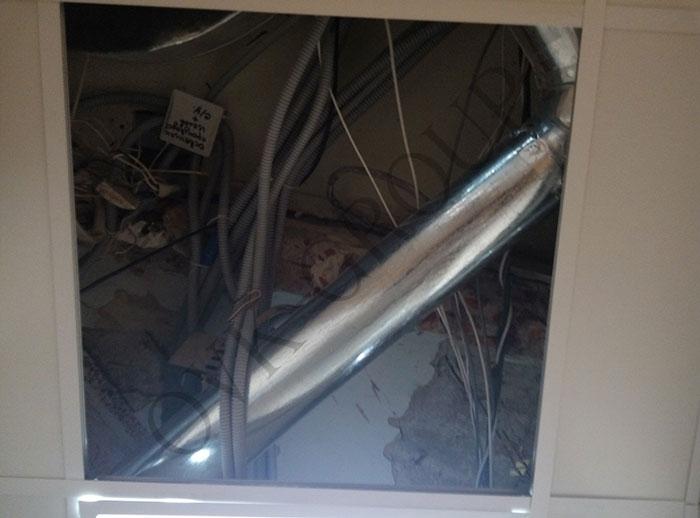 Монтаж воздуховодов системы вентиляции в кухне кафе в Харькове