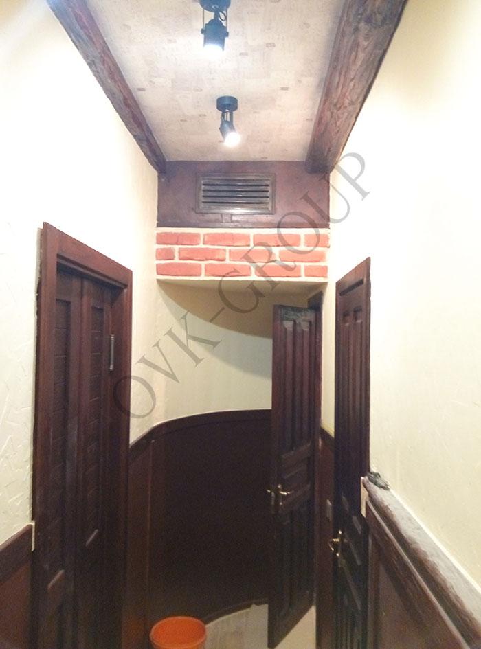 Проектирование и монтаж системы вентиляции и кондиционирования зала кафе в Харькове