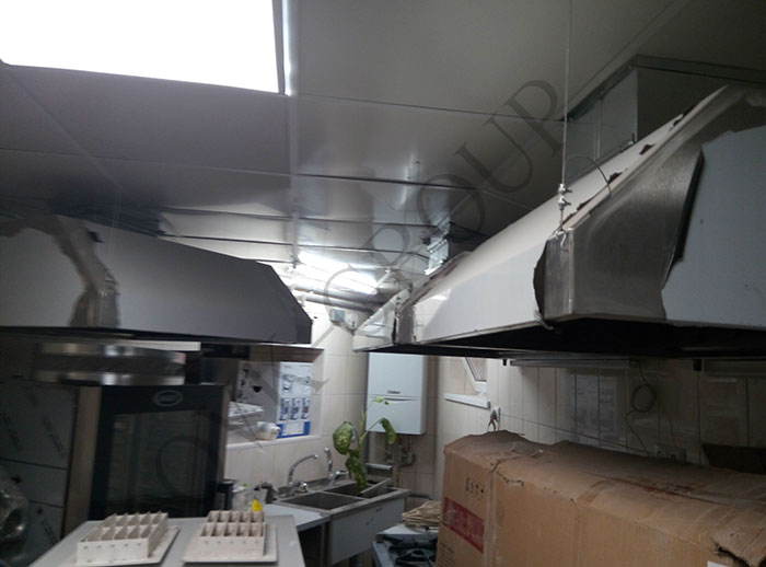 Проект и монтаж системы вентиляции в кухне кафе в Харькове