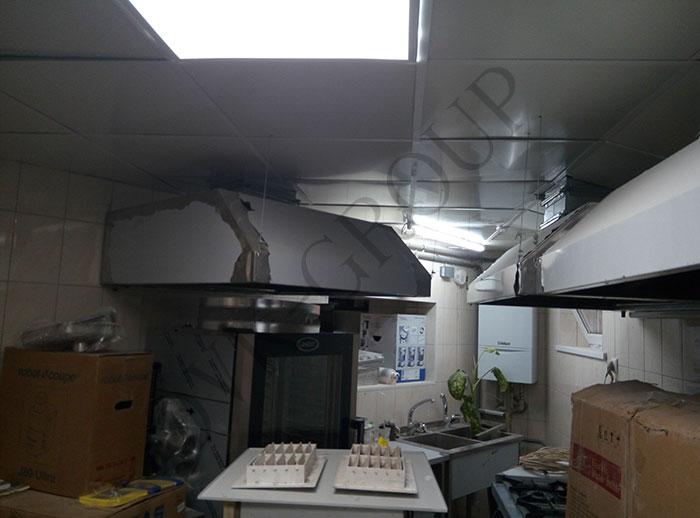 Проектирование и монтаж системы вентиляции в кухне кафе в Харькове