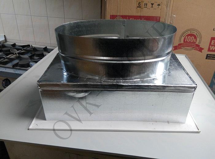 Изготовление системы вентиляции в кухне кафе в Харькове