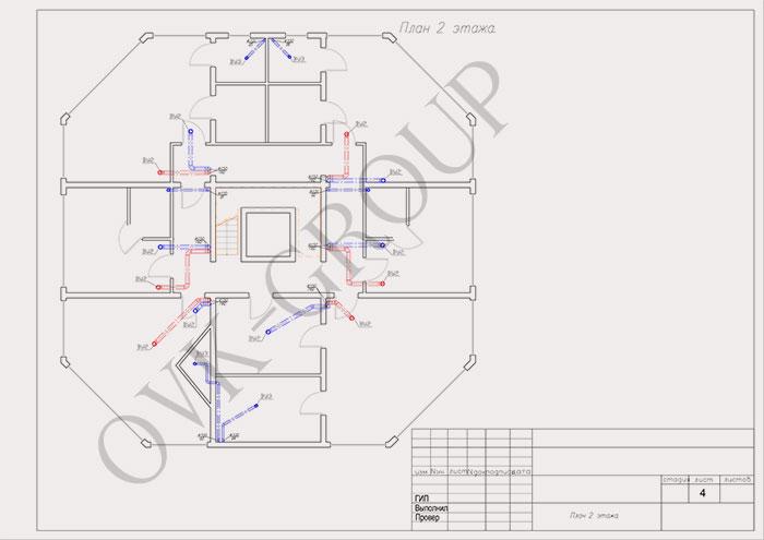 Проект воздушного отопления коттеджа