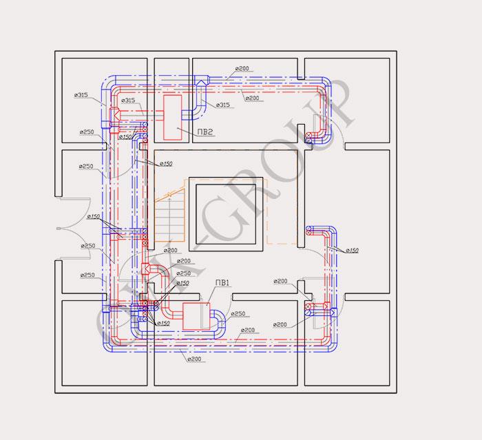 Проектирование воздушного отопления и вентиляции коттеджа