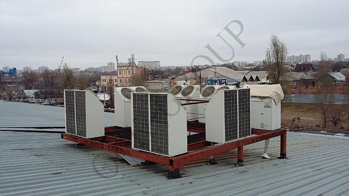 Монтаж вентиляции на торговом павильоне