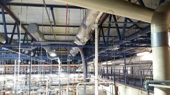 монтаж вентиляционного оборудования табачного завода