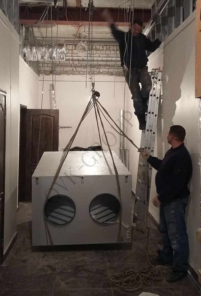монтаж приточно-вытяжной вентиляции в минимаркете