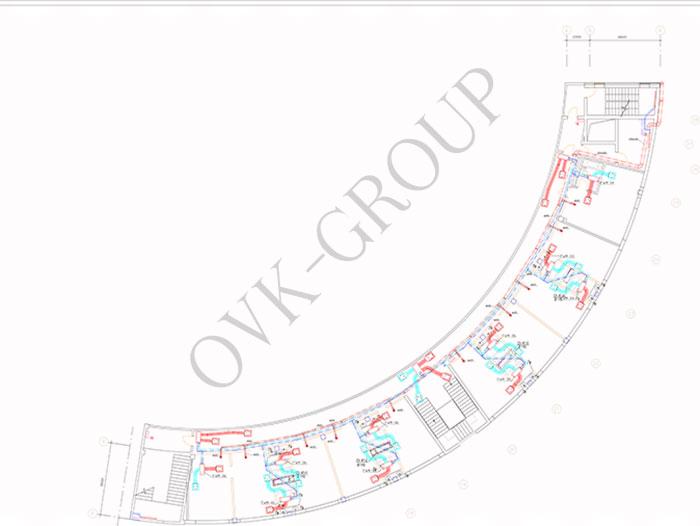 план приточно вытяжной вентиляции гостиницы