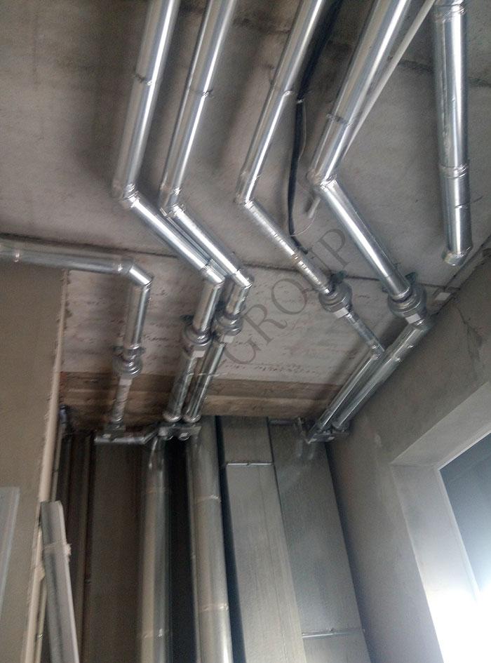 монтаж систем вентиляции в административном здании